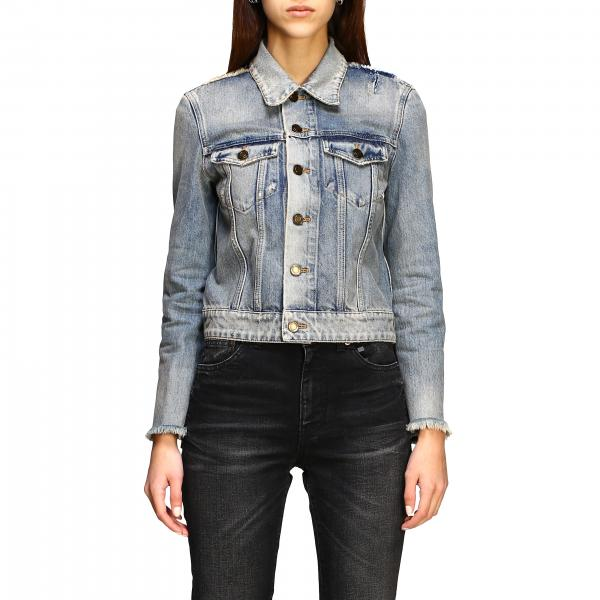 Saint Laurent worn-out denim jacket