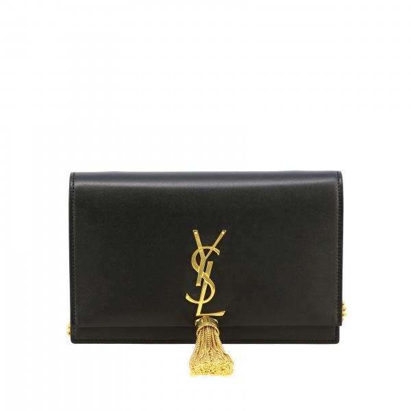Borsa Monogram kate chain wallet Saint Laurent in pelle