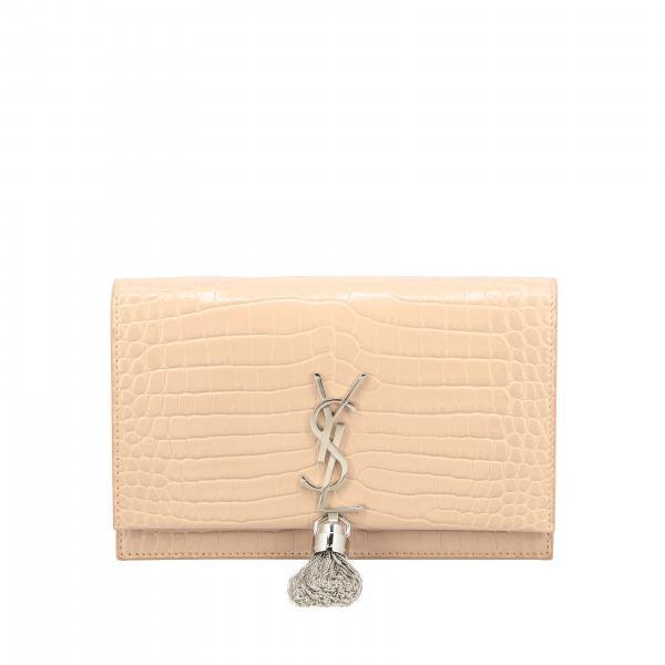 Borsa Monogram kate chain wallet Saint Laurent in pelle stampa cocco