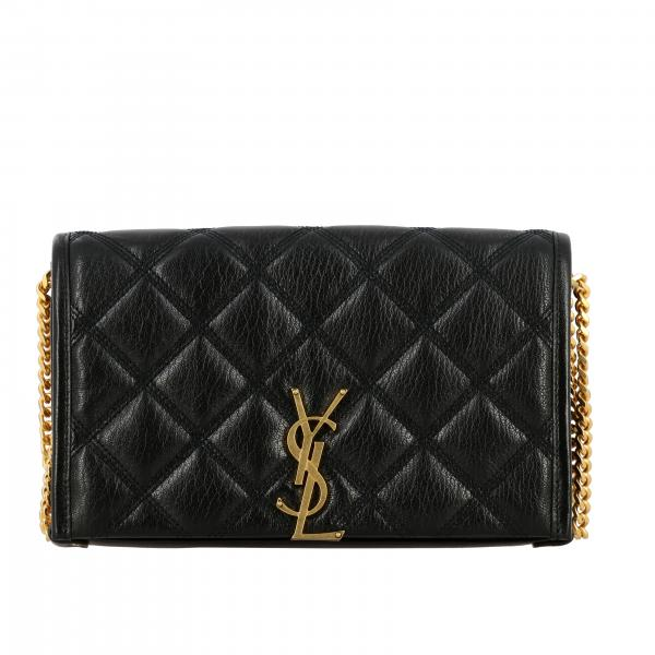 Saint Laurent Becky chain wallet 真皮绗缝手袋