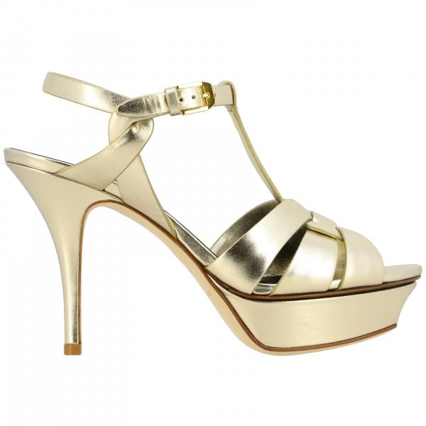 Saint Laurent Tribute sandal in laminated leather
