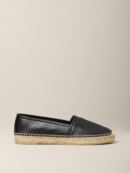 Saint Laurent espadrilles in leather with YSL monogram