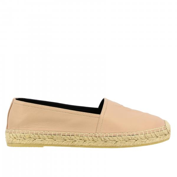Saint Laurent espadrilles in leather with embossed logo