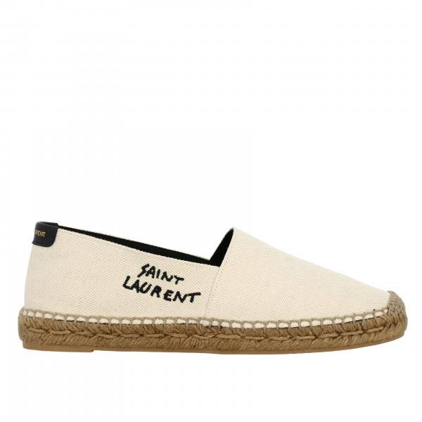 Espadrillas Saint Laurent in canvas con logo ricamato