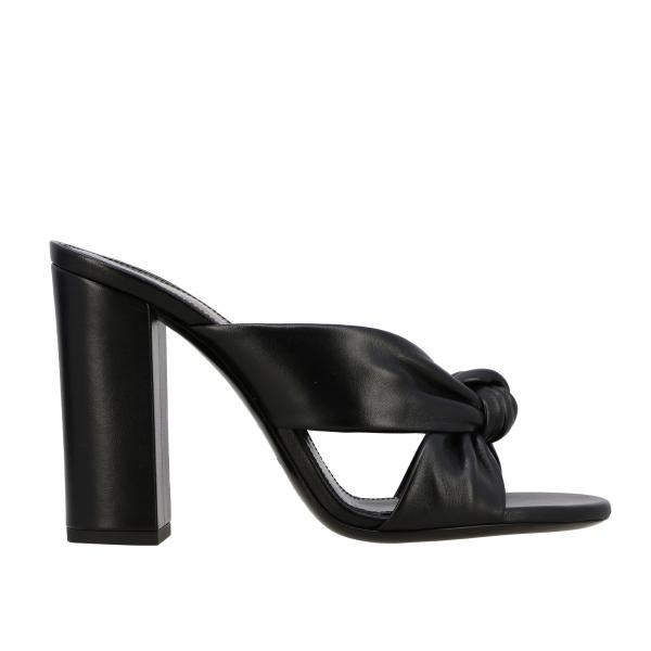 Saint Laurent Loulou sandal in leather with knot