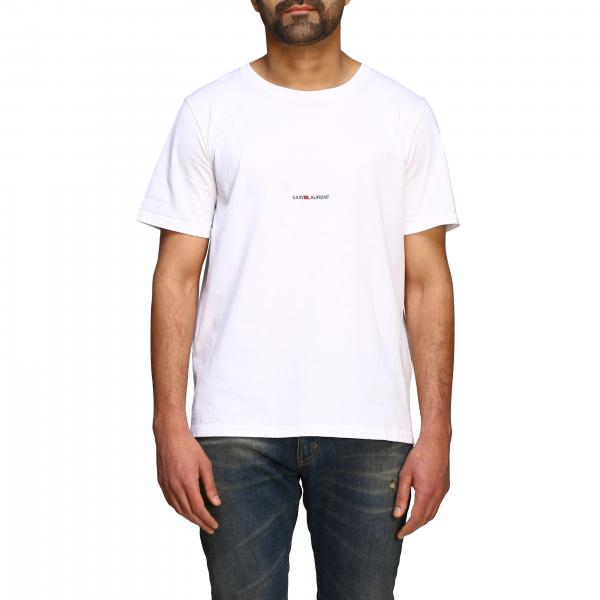 T-shirt Saint Laurent a maniche corte con mini logo
