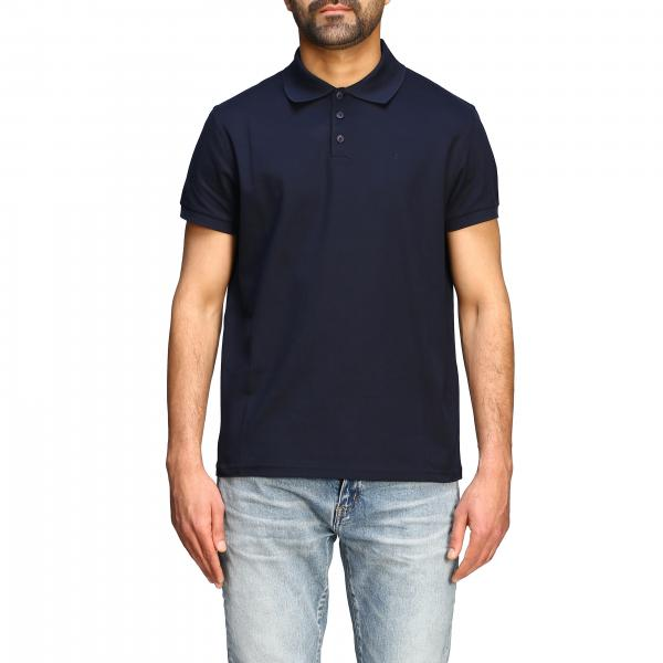 Saint Laurent Sport Polo mit Mini Monogramm