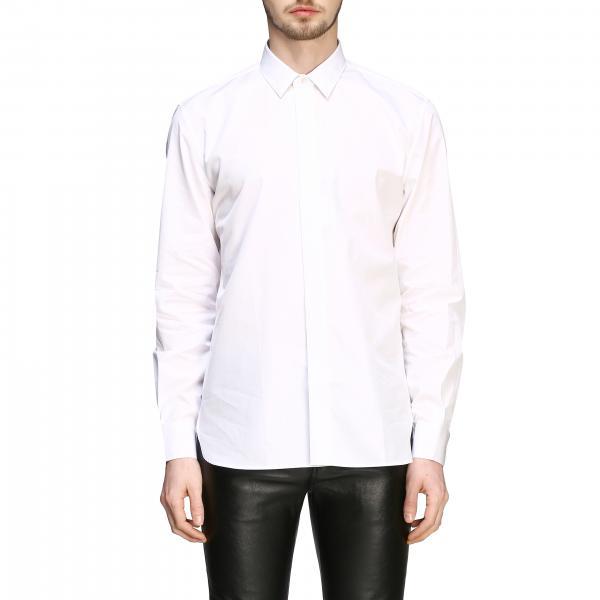 Camicia Saint Laurent in popeline basic con collo italiano