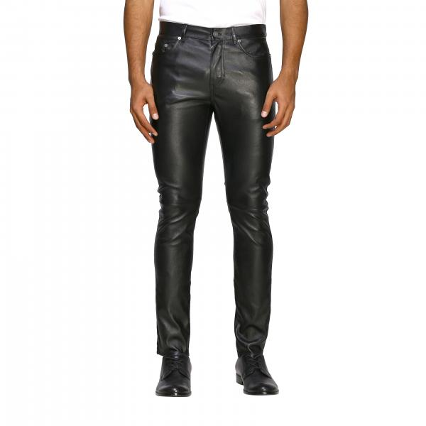 Saint Laurent skinny trousers in stretch leather