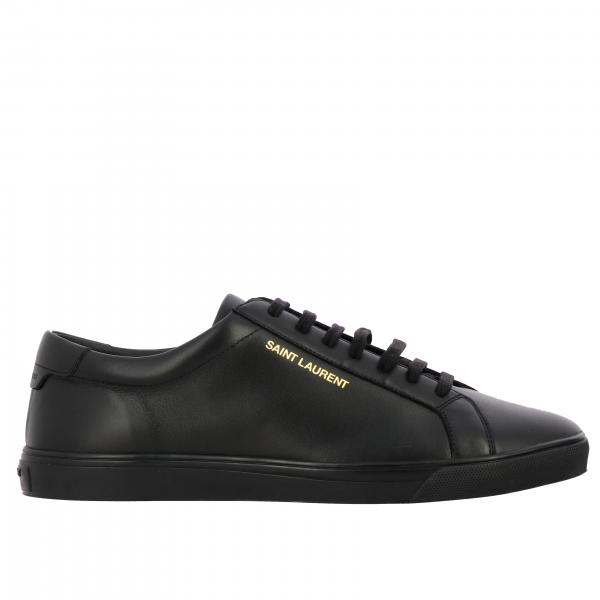 Saint Laurent Leder Sneakers mit Logo