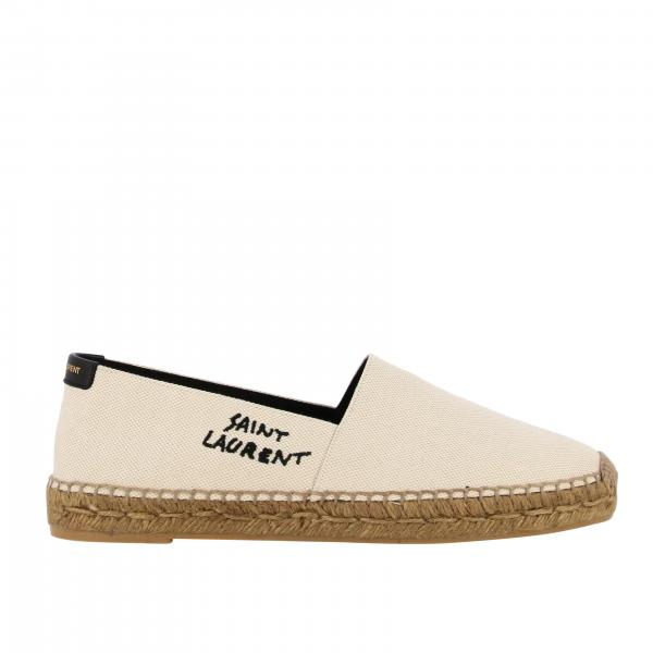 Saint Laurent Espadrilles aus Canvas mit Logo