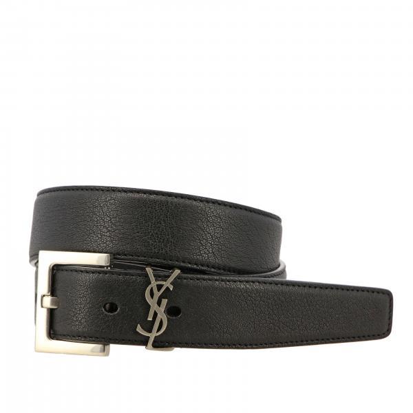Saint Laurent leather belt with YSL monogram