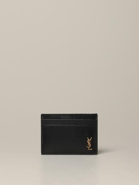 Porta carte di credito Saint Laurent con monogramma YSL