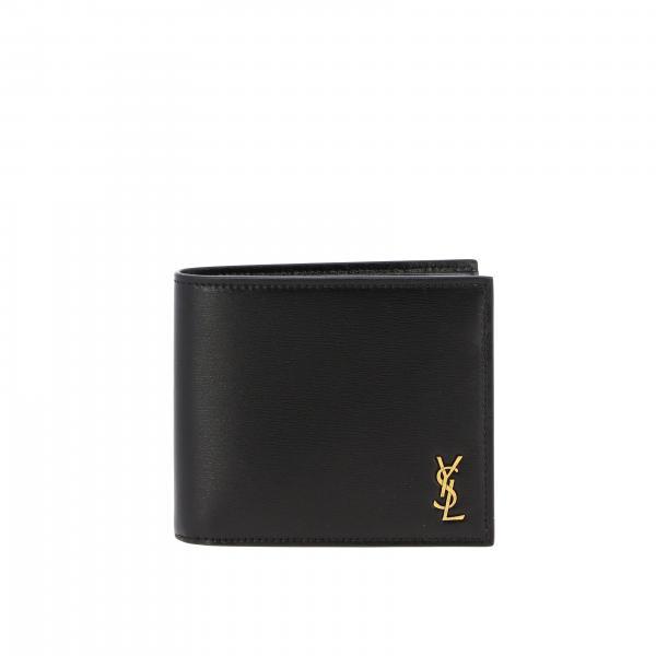 Portafoglio Saint Laurent in pelle con monogramma YSL