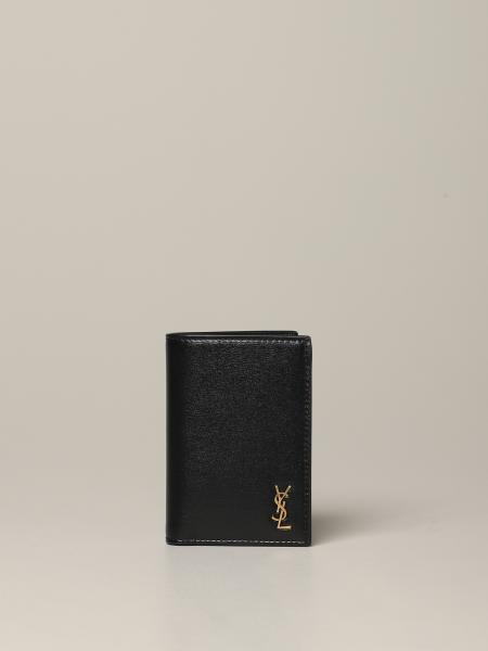 Portafoglio Saint Laurent con logo YSL