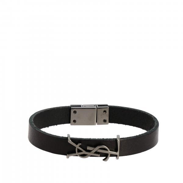 Bijoux bracciale saint laurent in pelle con monogramma ysl Saint Laurent - Giglio.com