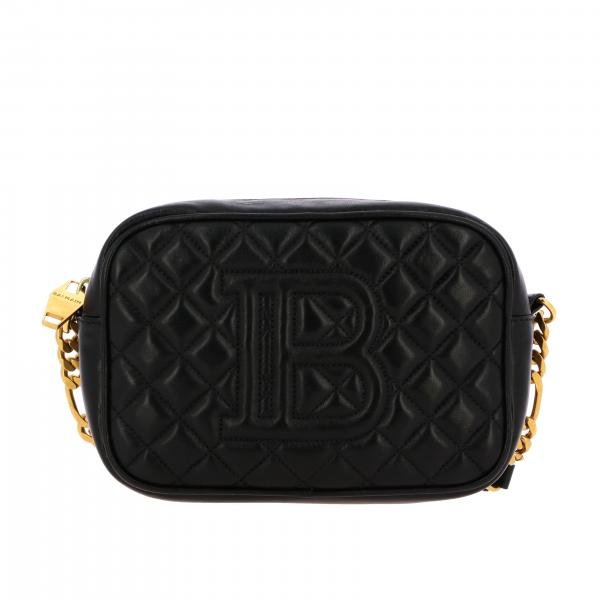 Borsa camera bag Balmain in pelle trapuntata