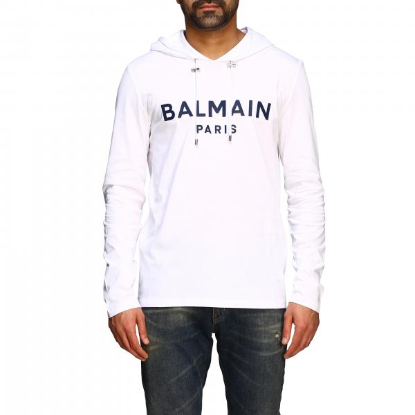 Balmain sweatshirt with hood and logo