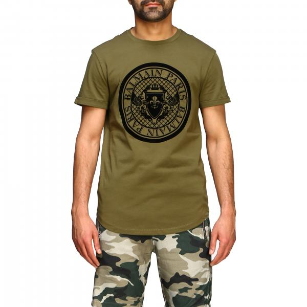 Balmain short-sleeved T-shirt with flocked crest