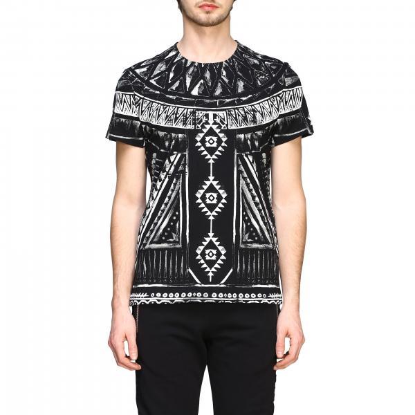 Balmain printed t-shirt with short sleeves