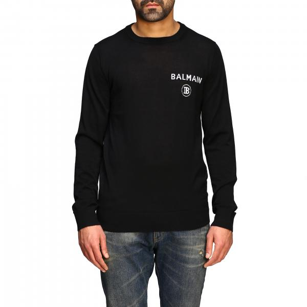 Balmain cashmere crewneck sweater with logo