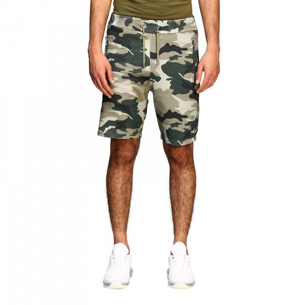 Balmain camouflage shorts with embossed logo