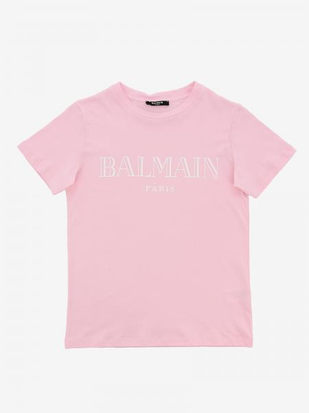 Balmain short-sleeved T-shirt with logo print