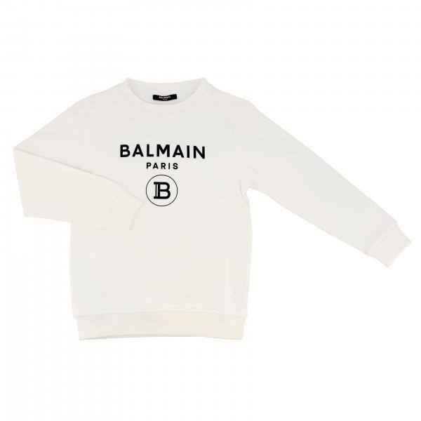 Balmain logo印花圆领卫衣