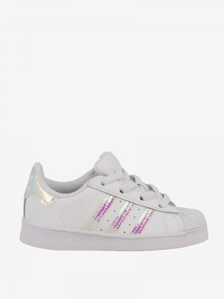 Superstar Adidas Originals Sneakers aus Leder mit Logo
