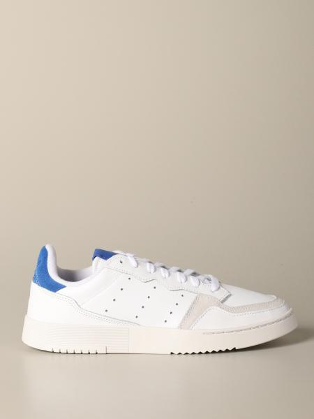 Adidas Originals Supercourt Sneakers aus Leder und Wildleder