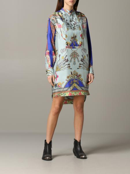 Etro shirt dress in silk with Moroccan print