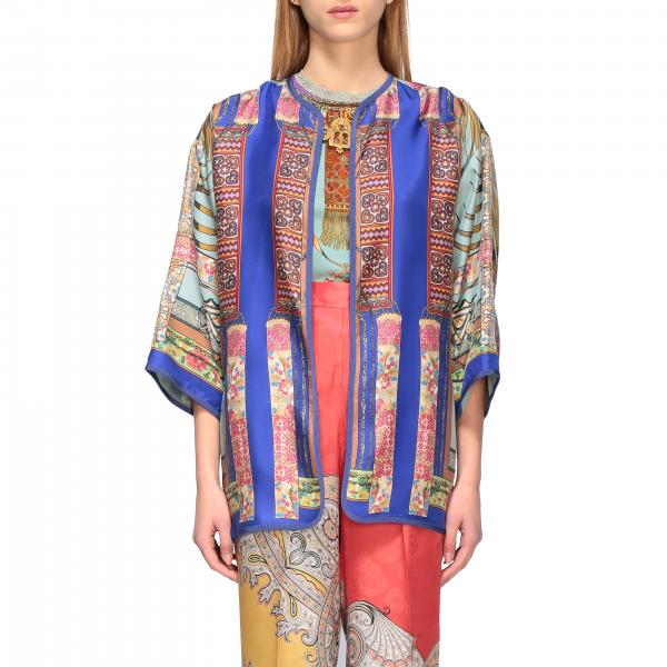 Etro silk cardigan with Moroccan jewel print