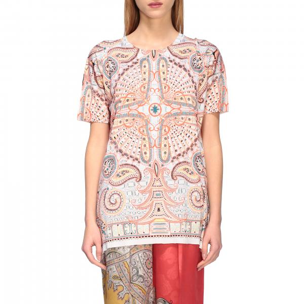 Etro short-sleeved shirt with paisley print