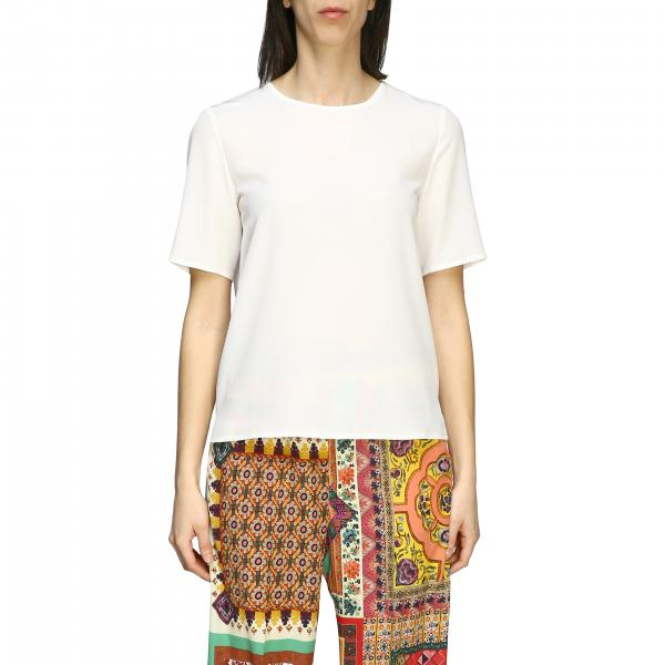 Etro short-sleeved silk T-shirt