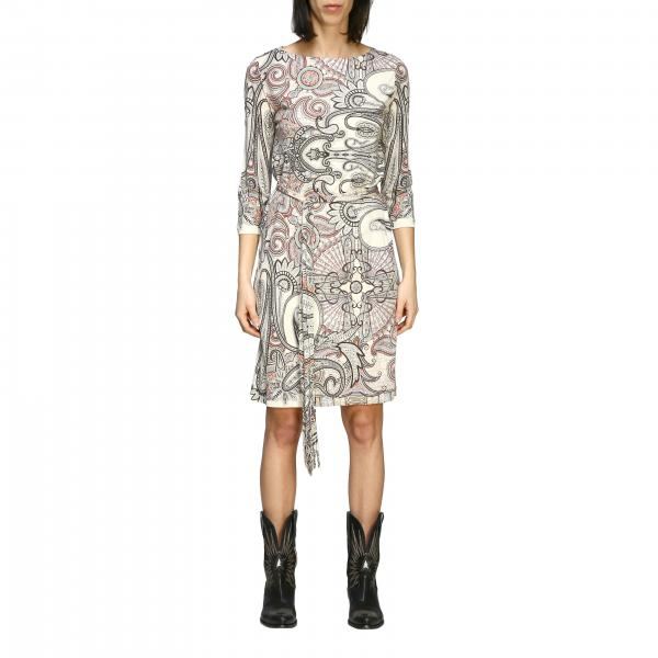 Etro women: Etro jersey dress with paisley print and belt