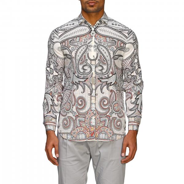Etro silk shirt with paisley print