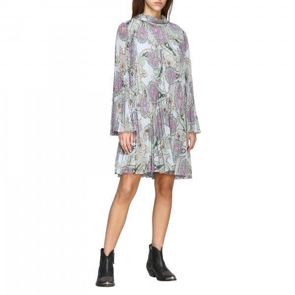 Etro Kleid aus plissiertem Stoff mit Paisley-Print