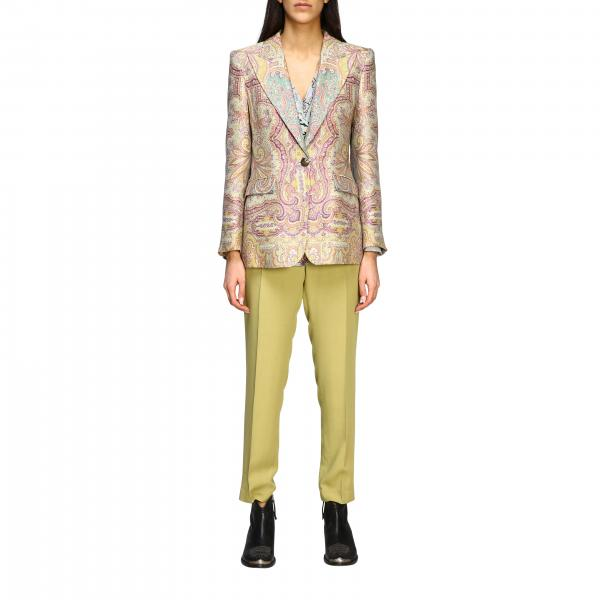 Giacca Etro in jacquard con stampa paisley