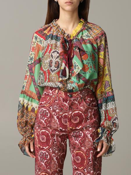 Etro muslin shirt with patchwork print