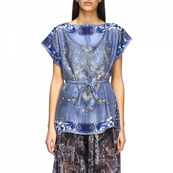Ethnic patterned Etro silk sweater