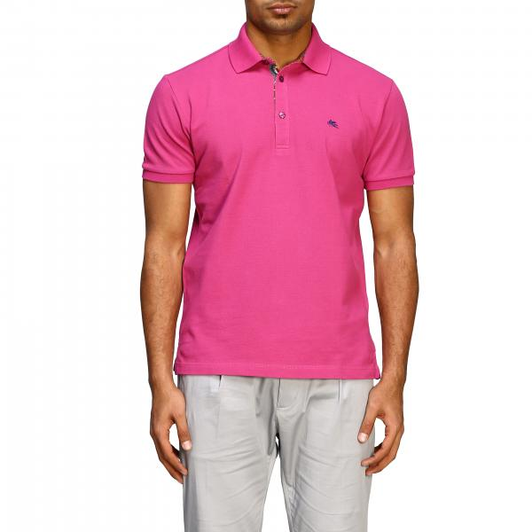 Etro short-sleeved polo shirt with embroidered logo