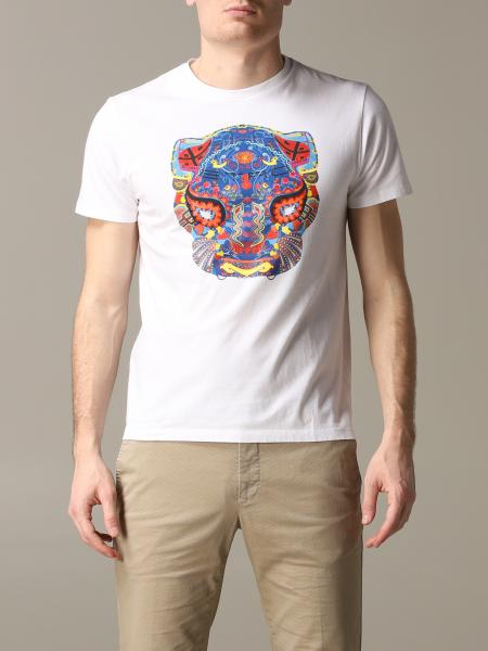 Short-sleeved Etro T-shirt with Mexican painting