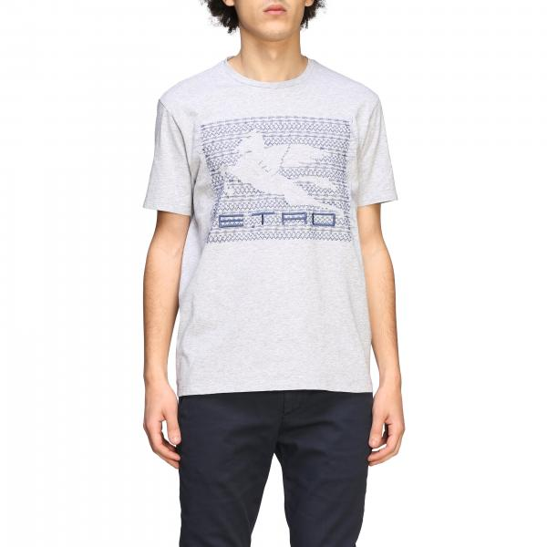 Etro T-shirt with Pegasus embroidery