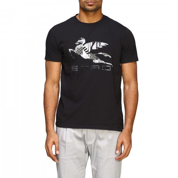 Etro T-shirt with big pegasus embroidery