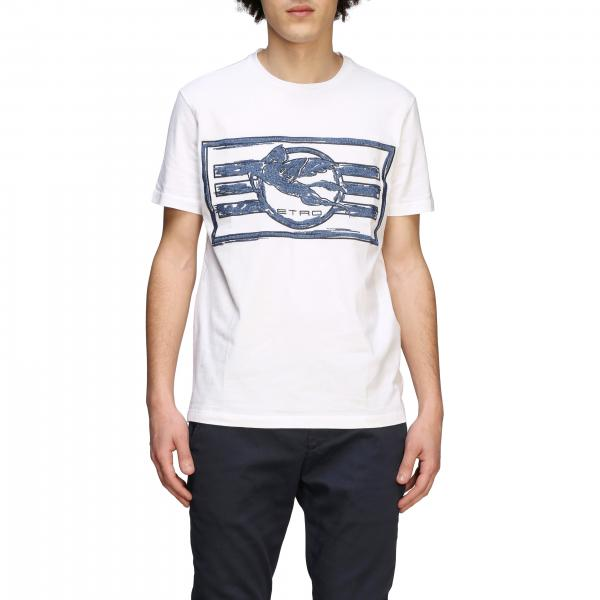 Etro T-shirt with Pegasus logo