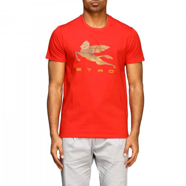 Etro T-shirt with big pegasus print