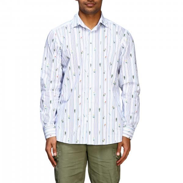 Etro cotton shirt with Mexico print and Italian collar