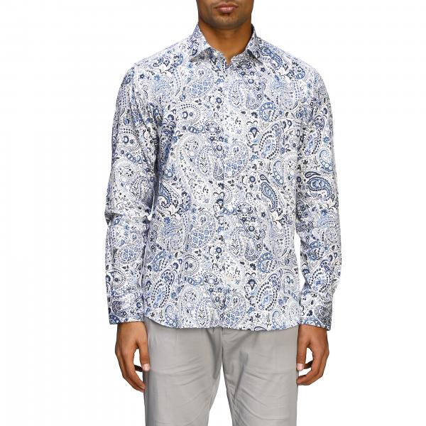 Etro cotton shirt with Paesley print and Italian collar