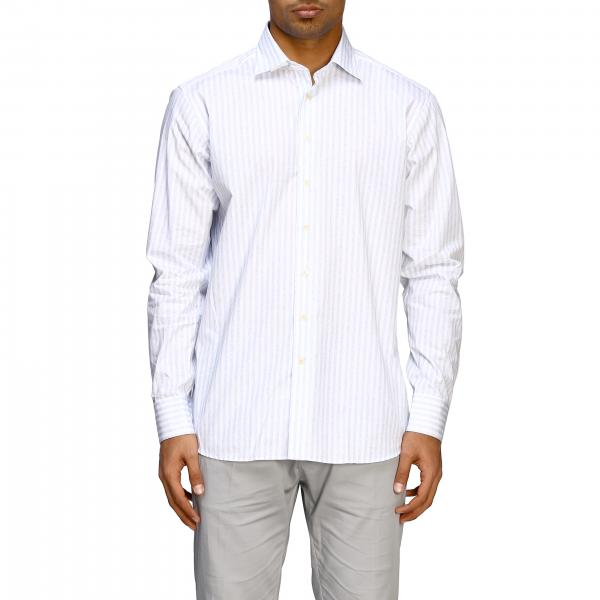 Etro striped cotton shirt with Italian collar