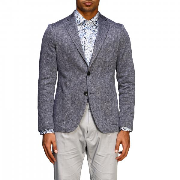 Single-breasted 2-button Etro jacket in jersey with geometric jacquard